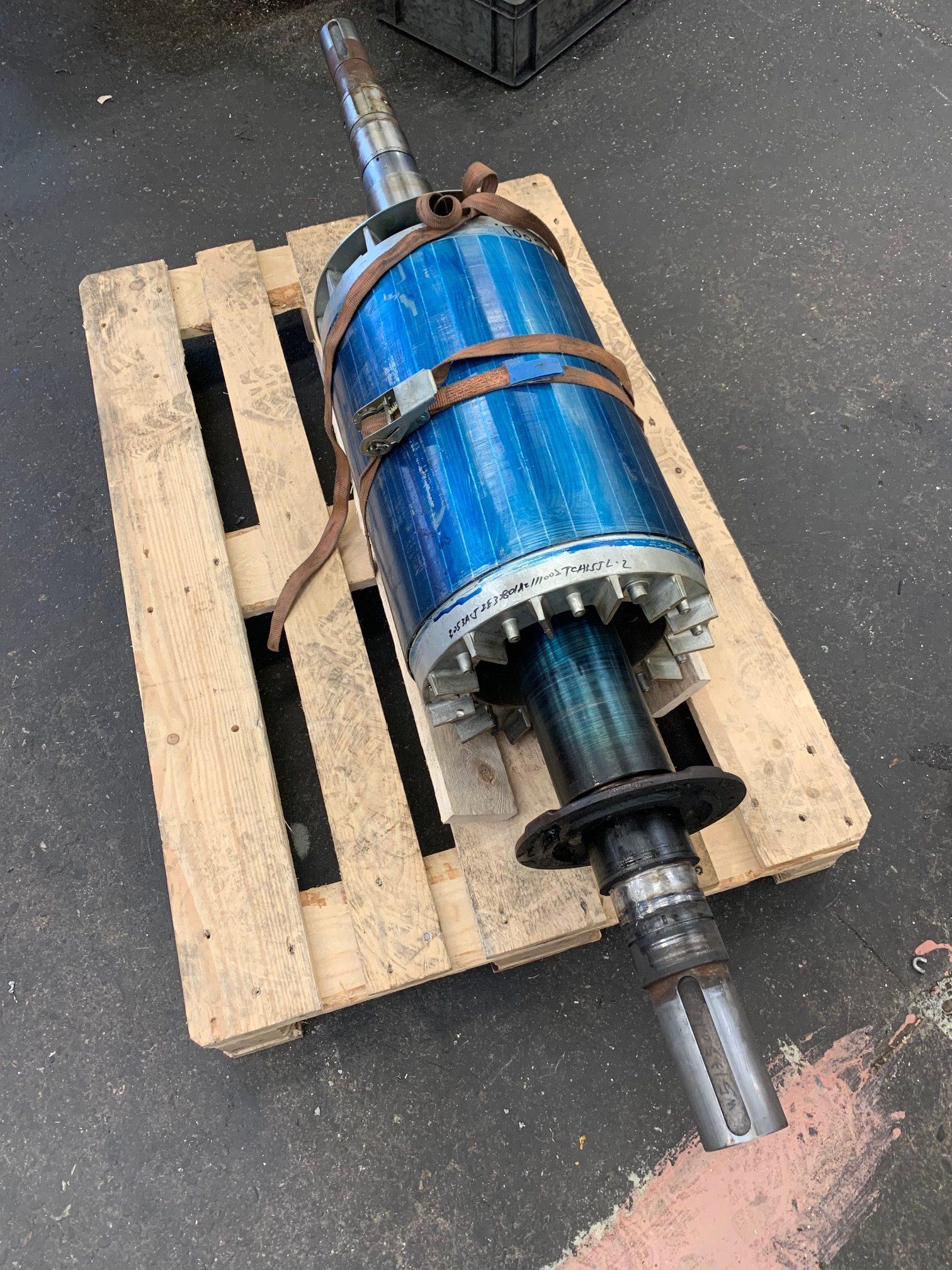 Reparatie lager van elektromotor rotor